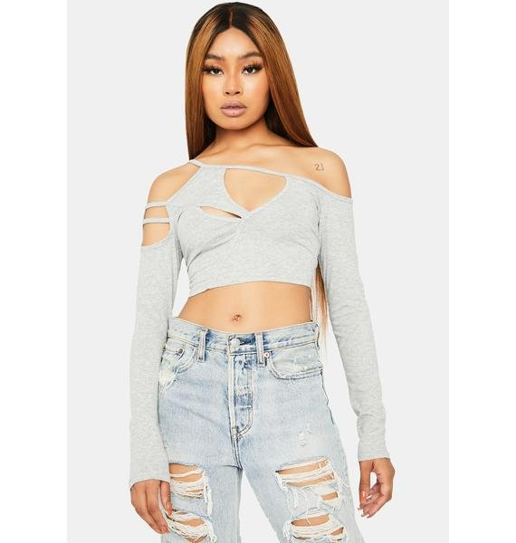 Heather Admired Secretly Cut Out Crop Top