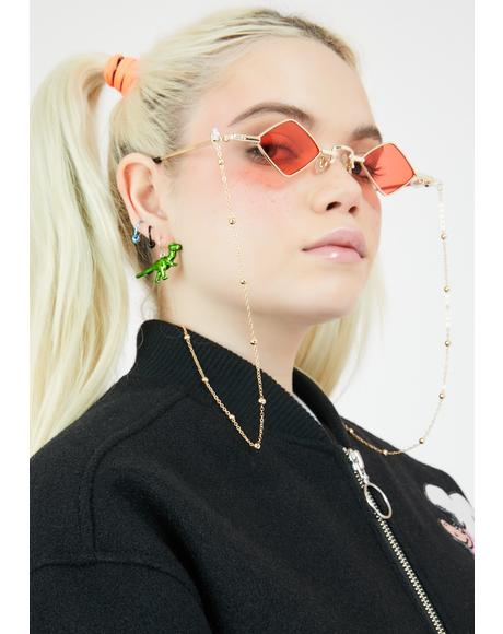 Lit Half Baked Tiny Chain Sunglasses