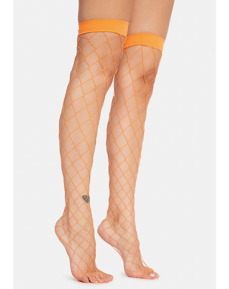 Nova Doomsday Net Thigh Highs