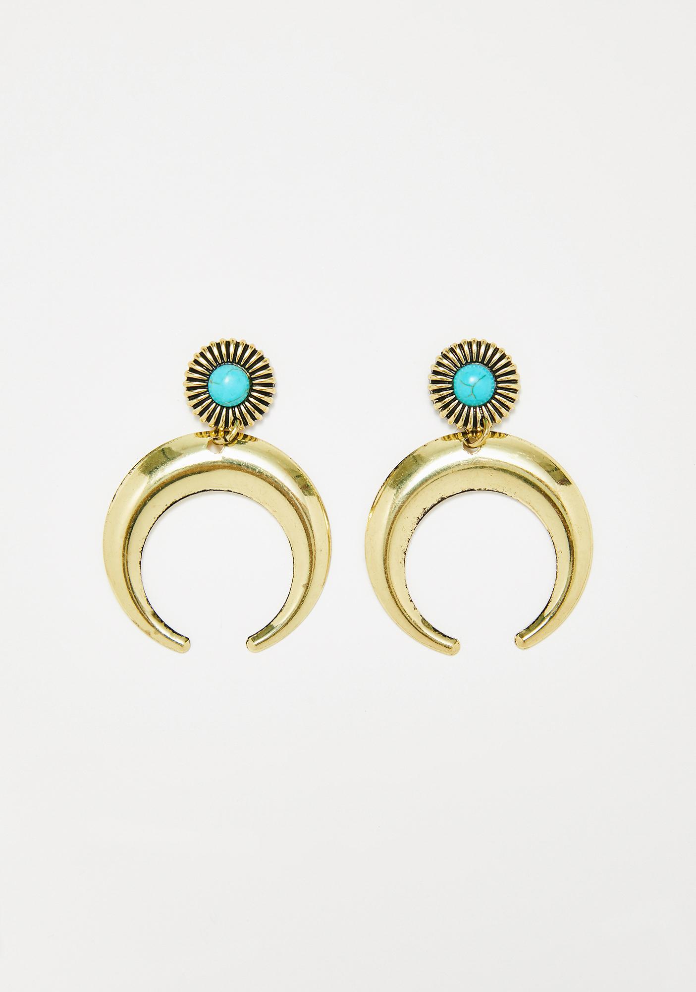 Golden Celestia Tiered Earrings