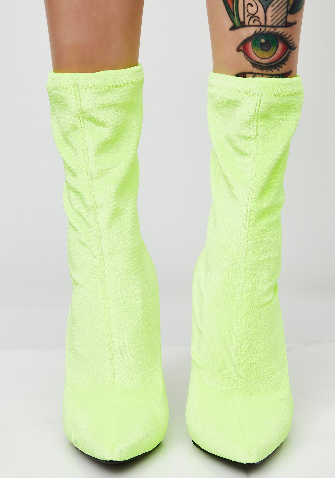 Neon Give It Ur All Ankle Boots