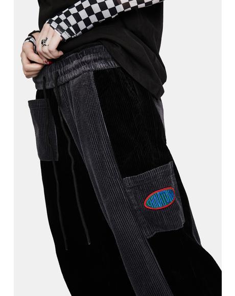 Corduroy Two-Tone Pants
