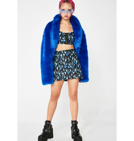 Ivy Berlin Blue Flame Skort
