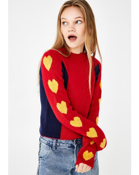 Young At Heart Knit Sweater