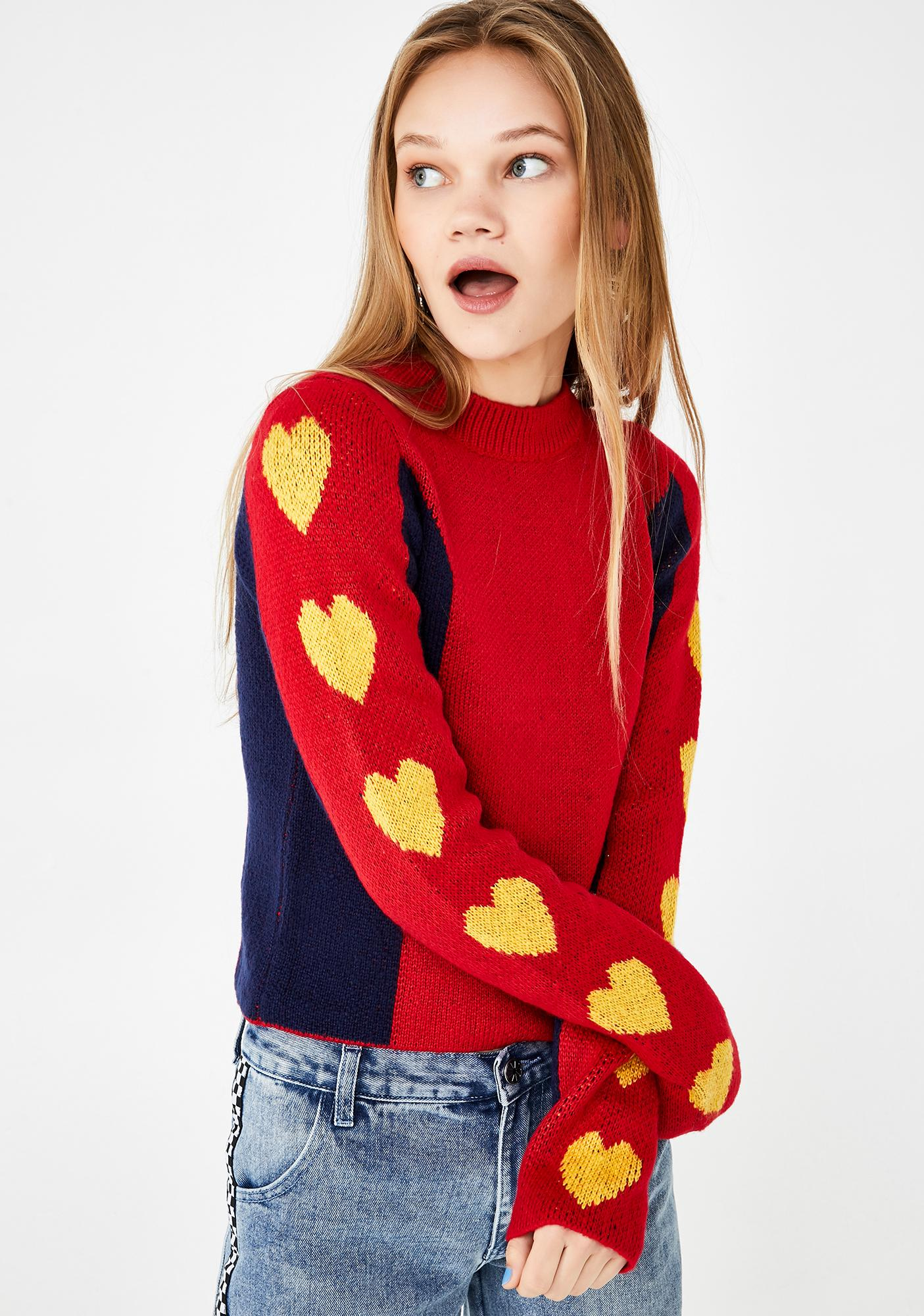 dELiA*s by Dolls Kill Young At Heart Knit Sweater