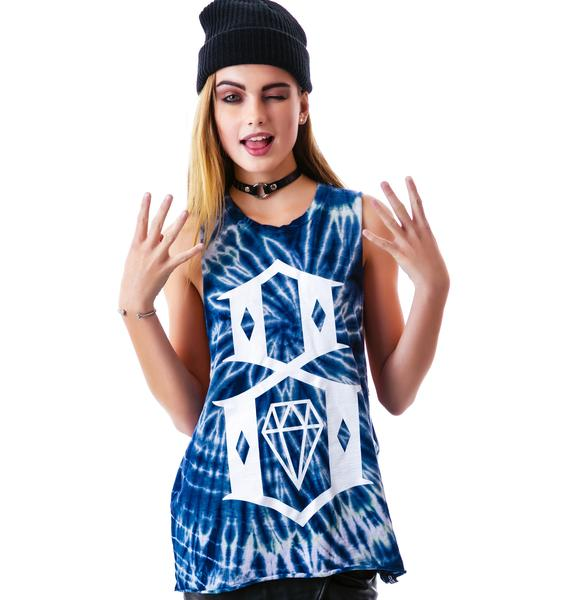 Rebel8 8 Logo Tie Dye Open Side Tank