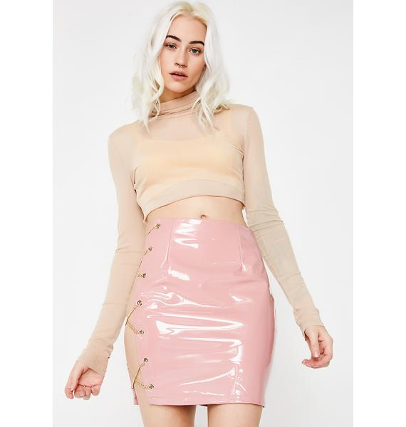 Second Guess Vinyl Skirt