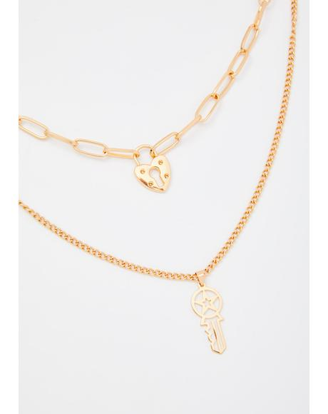 Cosmic Love Key Chain Necklace