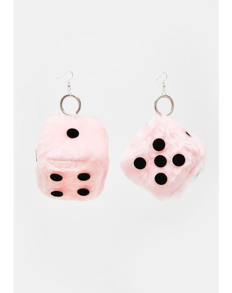Fluffy Dice Earrings