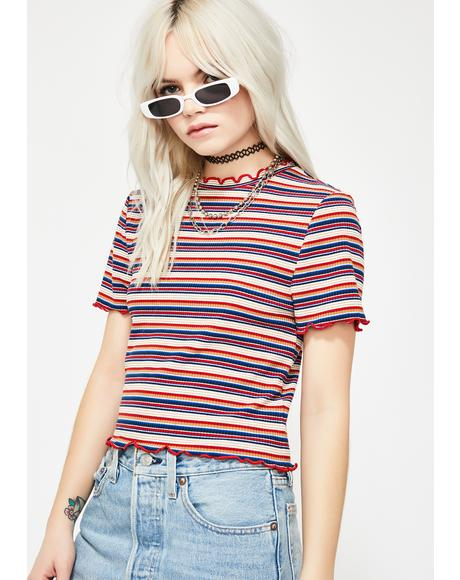 Girl Talk Striped Tee