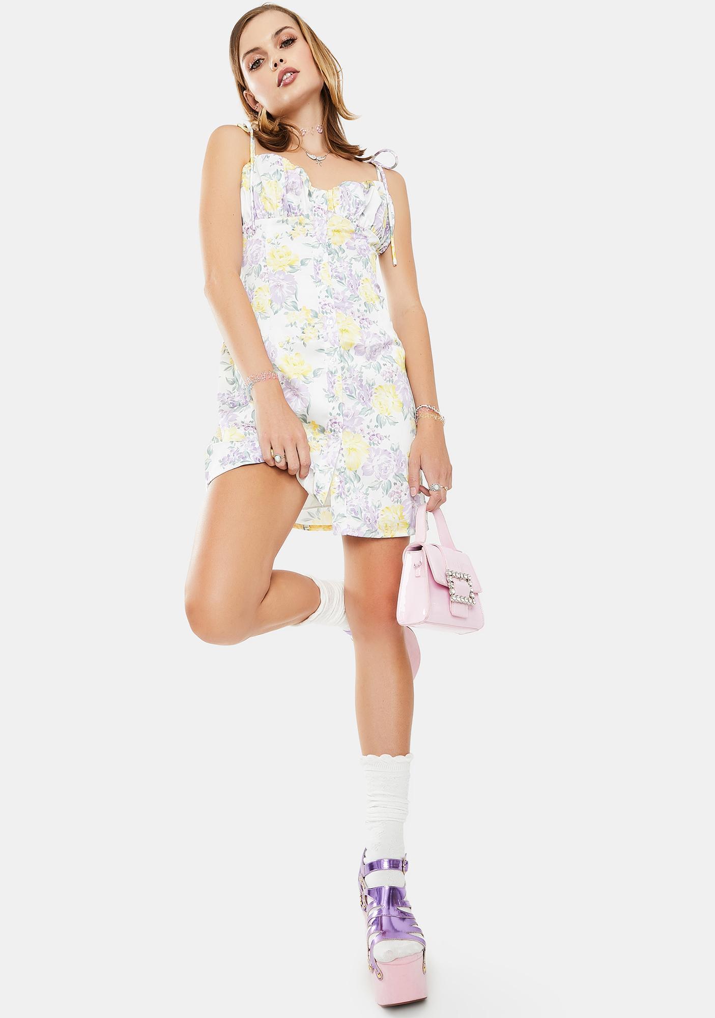 Glamorous Multi Chintz Sateen Mini Dress