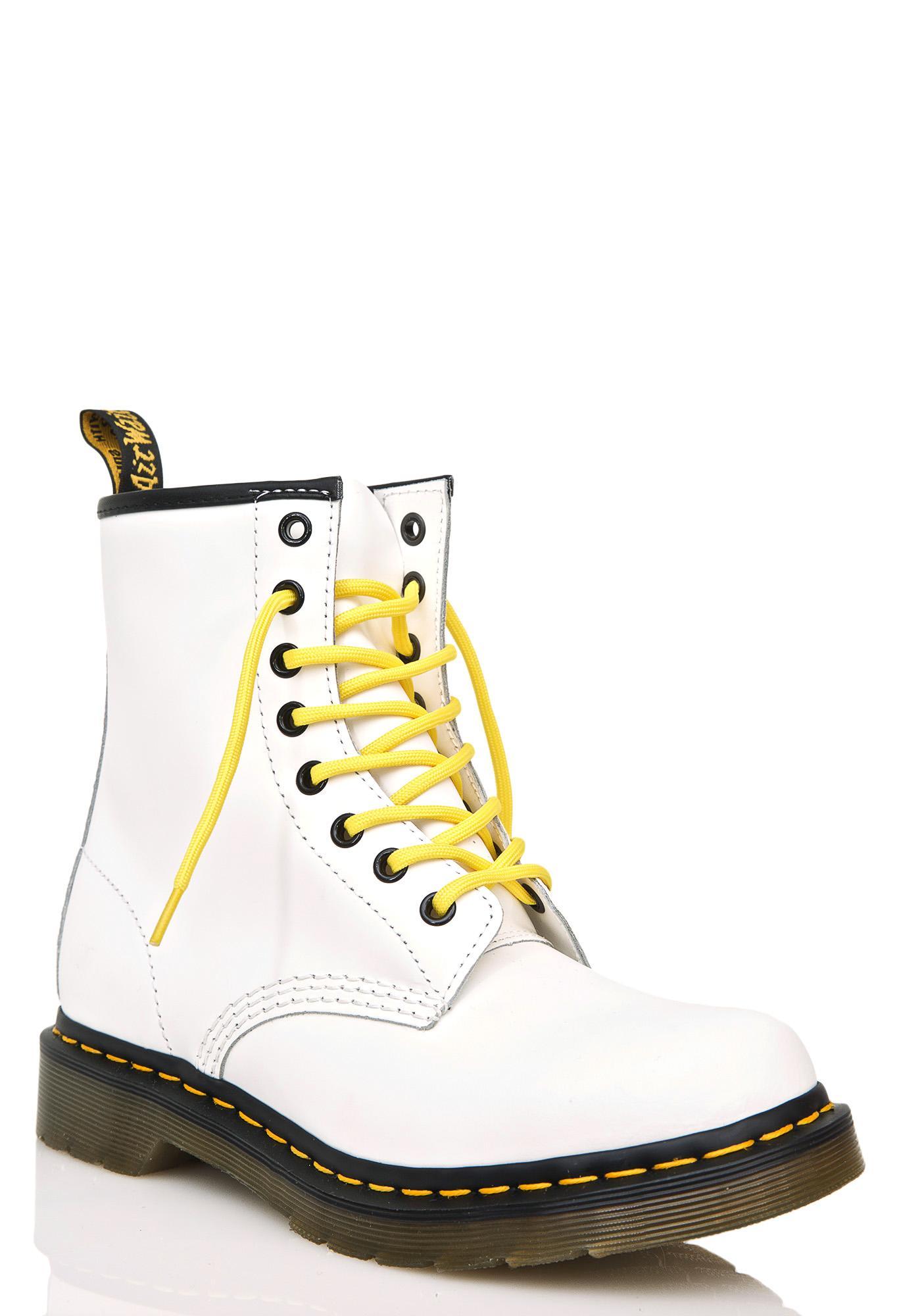 b647980e32b ... Dr. Martens White 1460 8 Eye Boots ...