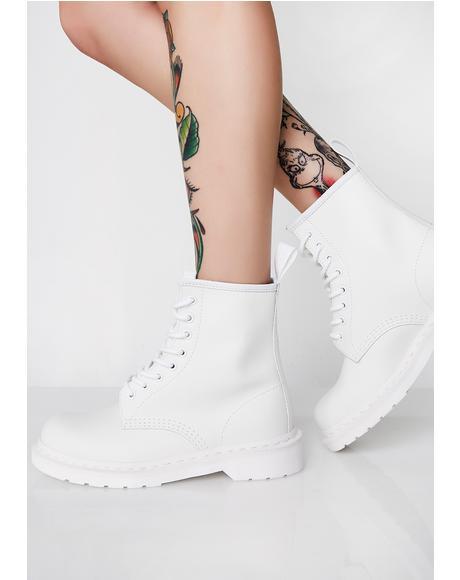 White 1460 Mono Boots