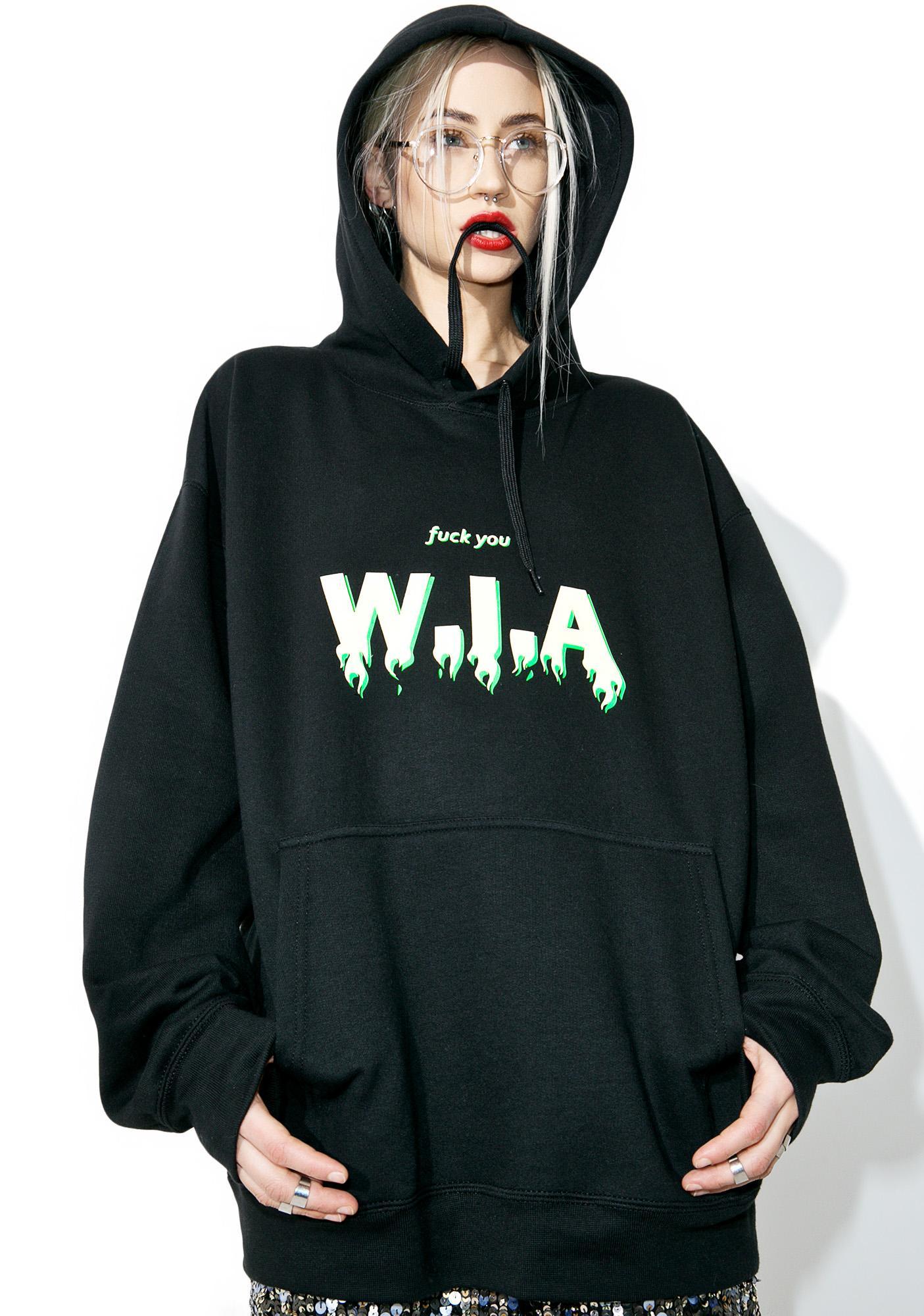 W.I.A On Fire Oversize Hoodie