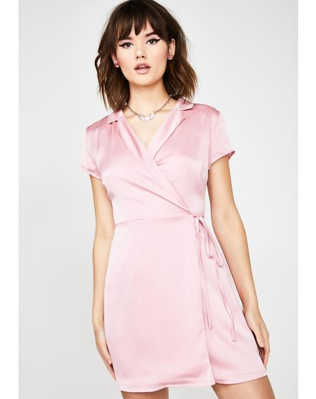 Blisstopia Satin Wrap Dress