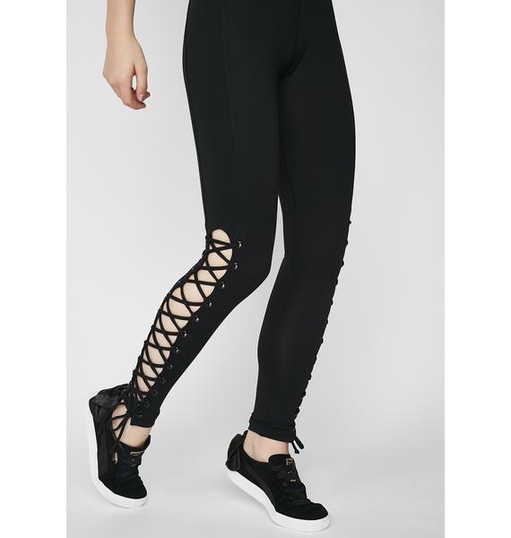 Voguing Vixen Lace-Up Leggings