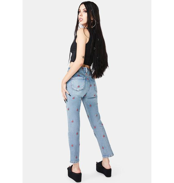 Blank NYC Ever After Embroidered Jeans