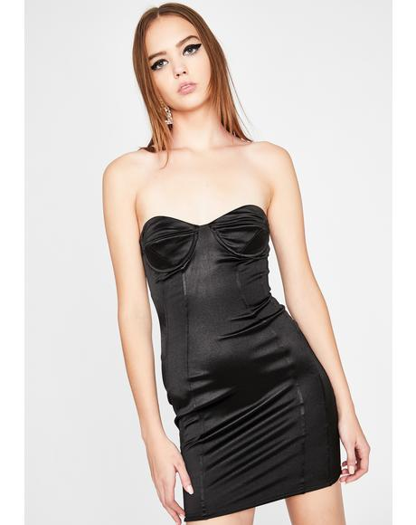 Point Of Obsession Strapless Dress