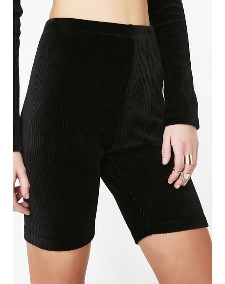 Noir Bike Shorts