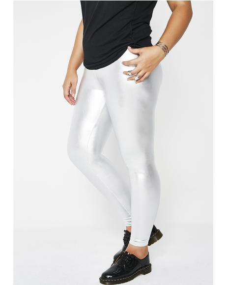 Chrome Paint The Town Metallic Leggings