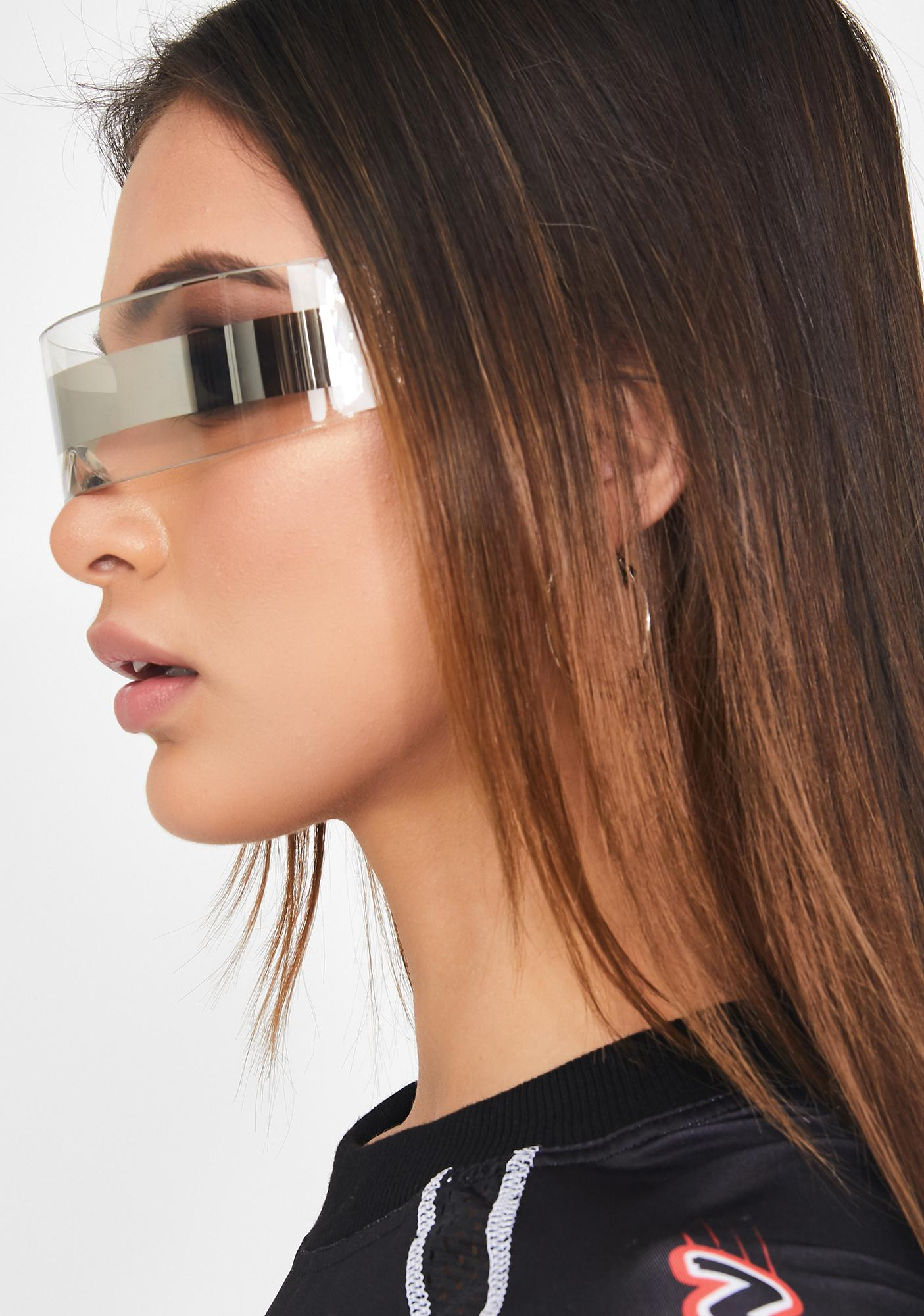 Icy Futuristic Freeze Shield Sunglasses