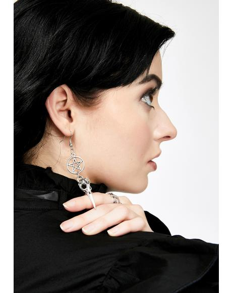 Hexin' Pecks Drop Earrings