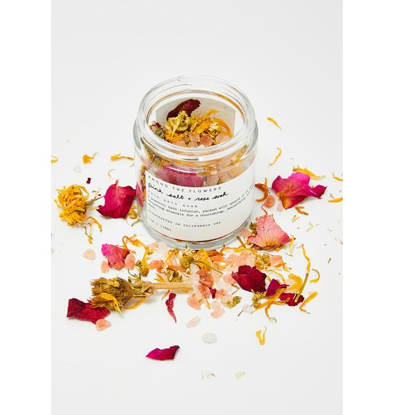 Among The Flowers Pink Salt And Rose Bath Soak