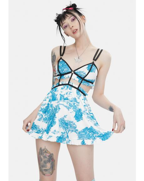 Toile Over You Floral Babydoll