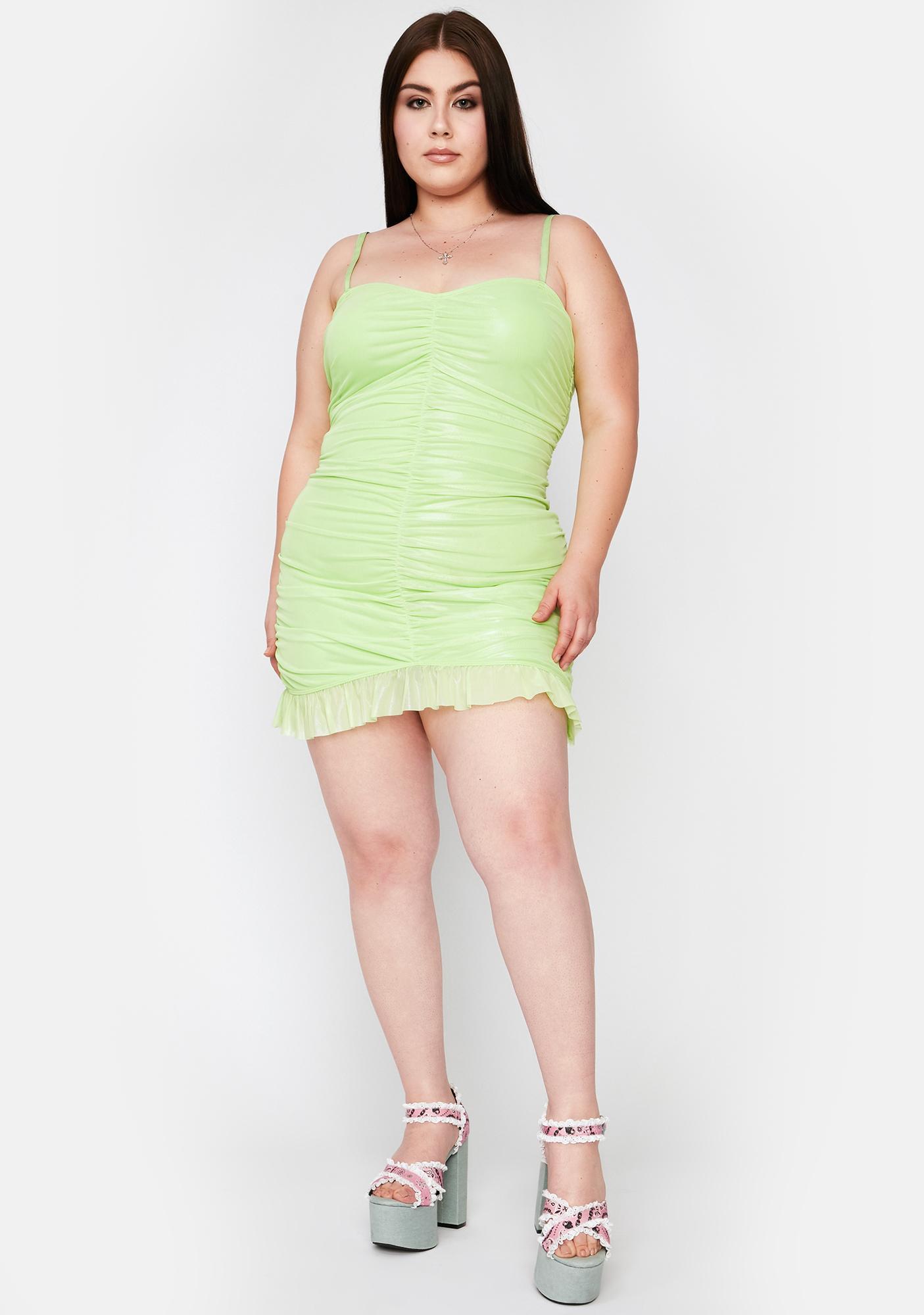 Sugar Thrillz Miss Martini Sour Ruched Mini Dress