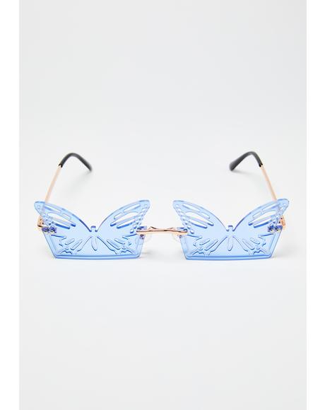 Aqua Butterfly Chillin Sunglasses