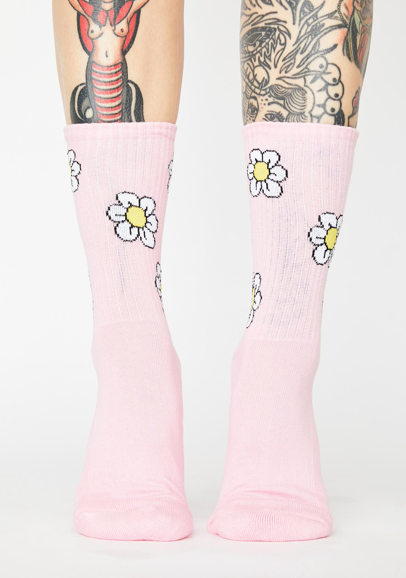 Lazy Oaf In Bloom Crew Socks