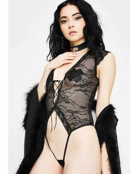Wicked Deviant Lace Teddy