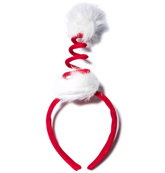 Cocktail Springy Santa Headband