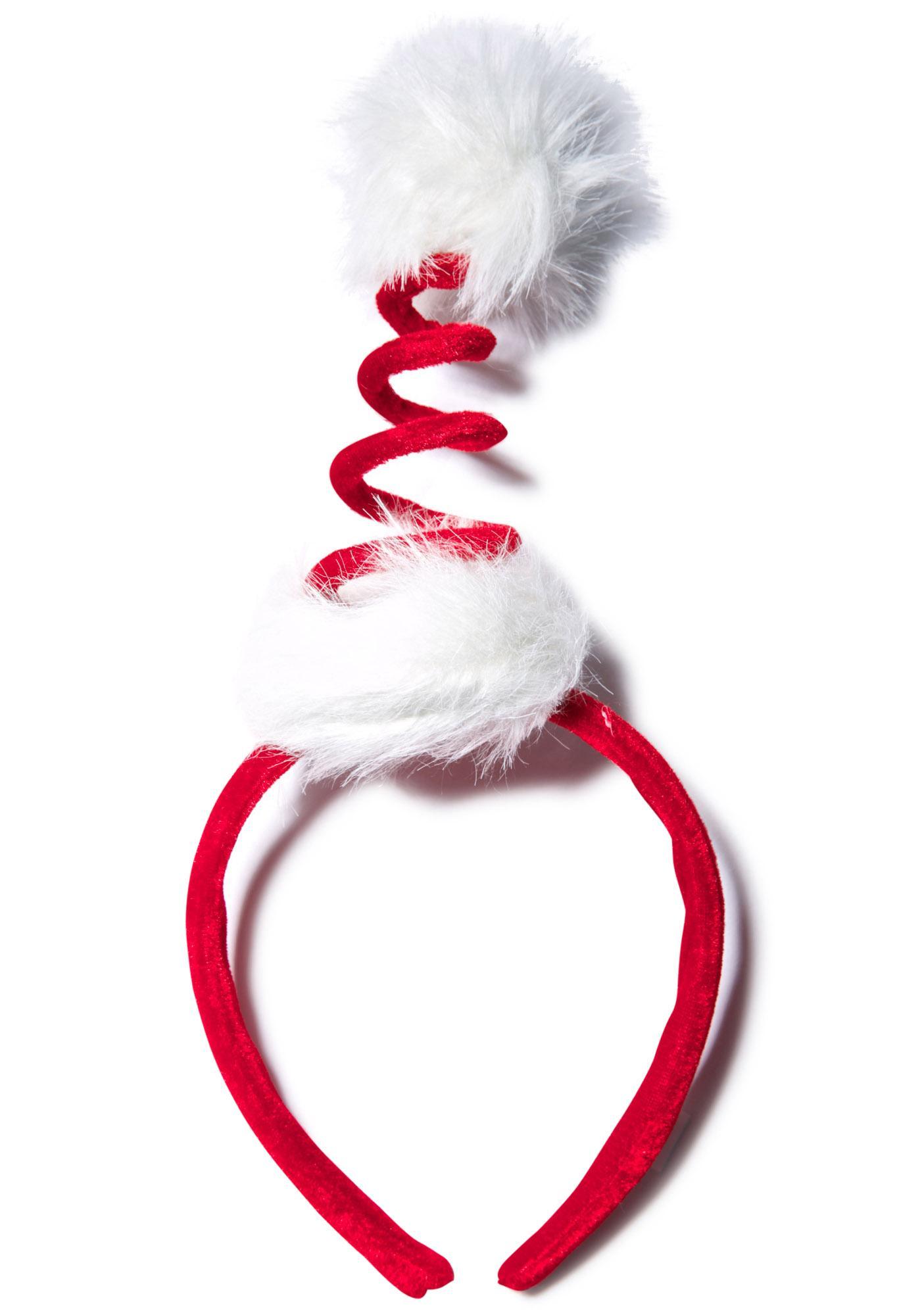Cocktail Springy Santa Headband