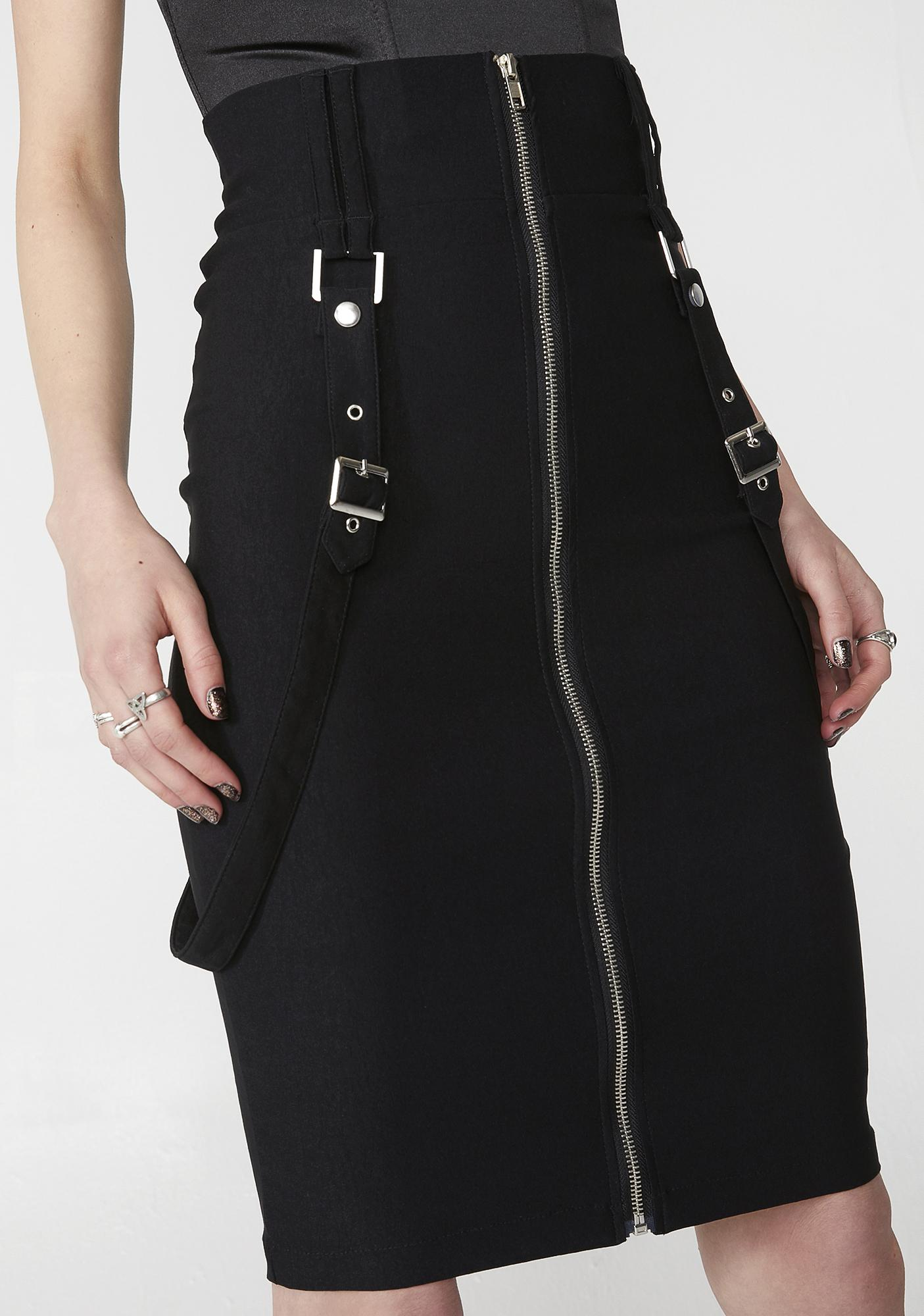 Killstar Force Field Pencil Skirt
