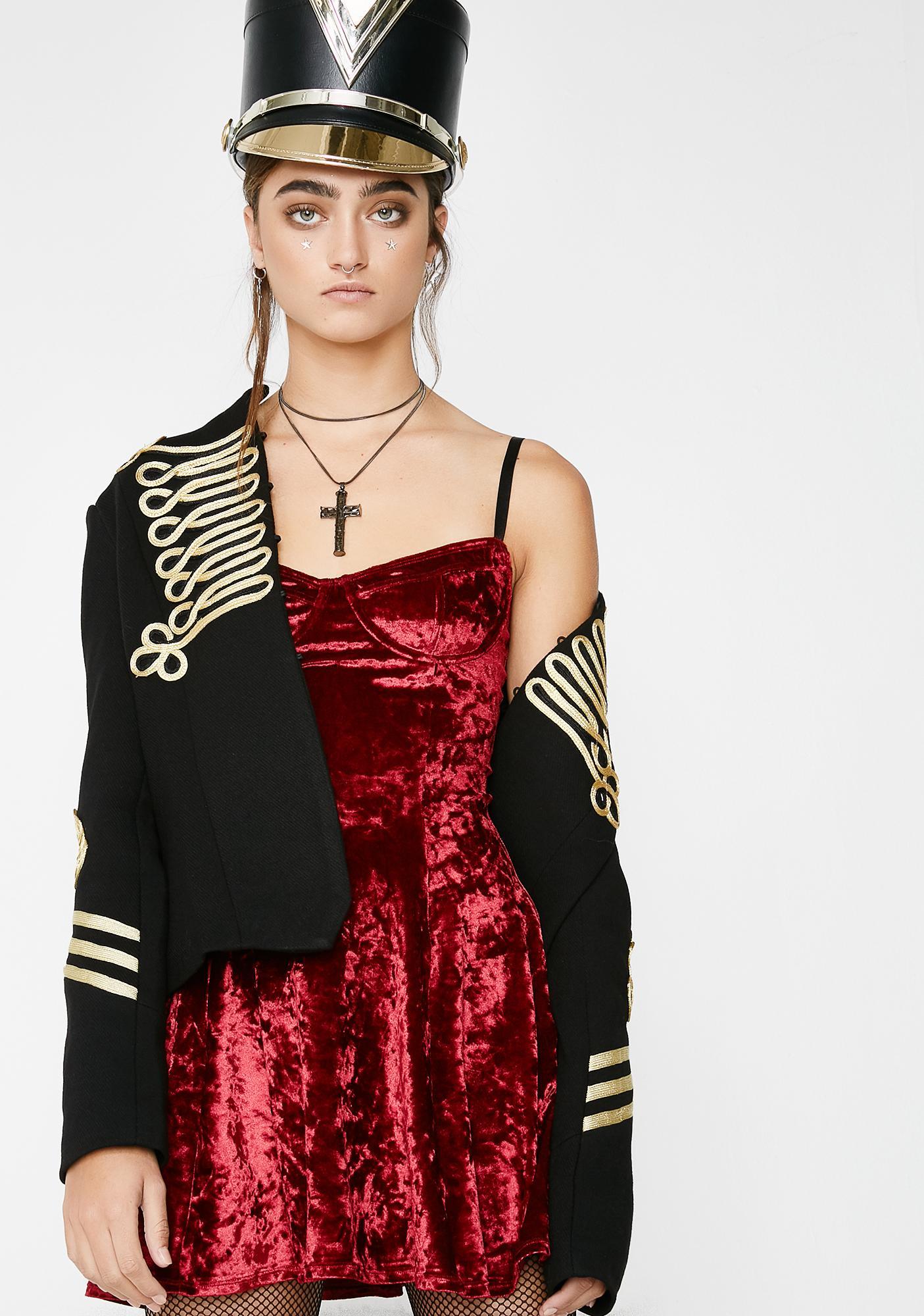 Current Mood Crack That Whip Velvet Dress