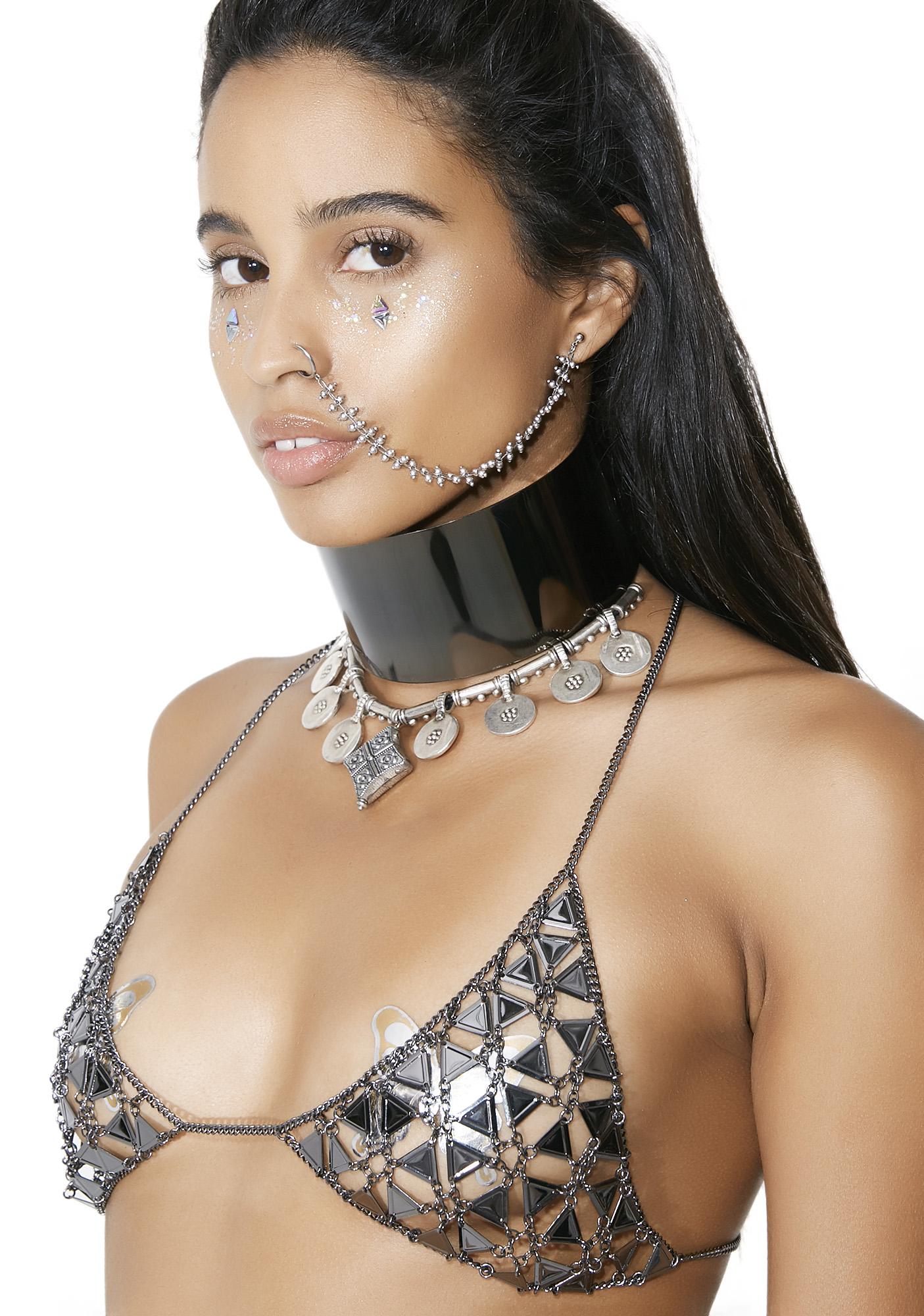 Gunmetal Princess Organa Chain Bra