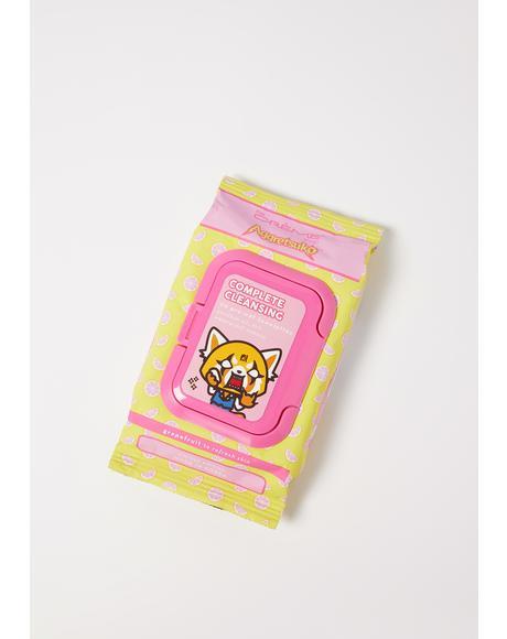 Aggretsuko Grapefruit Cleansing Towelettes
