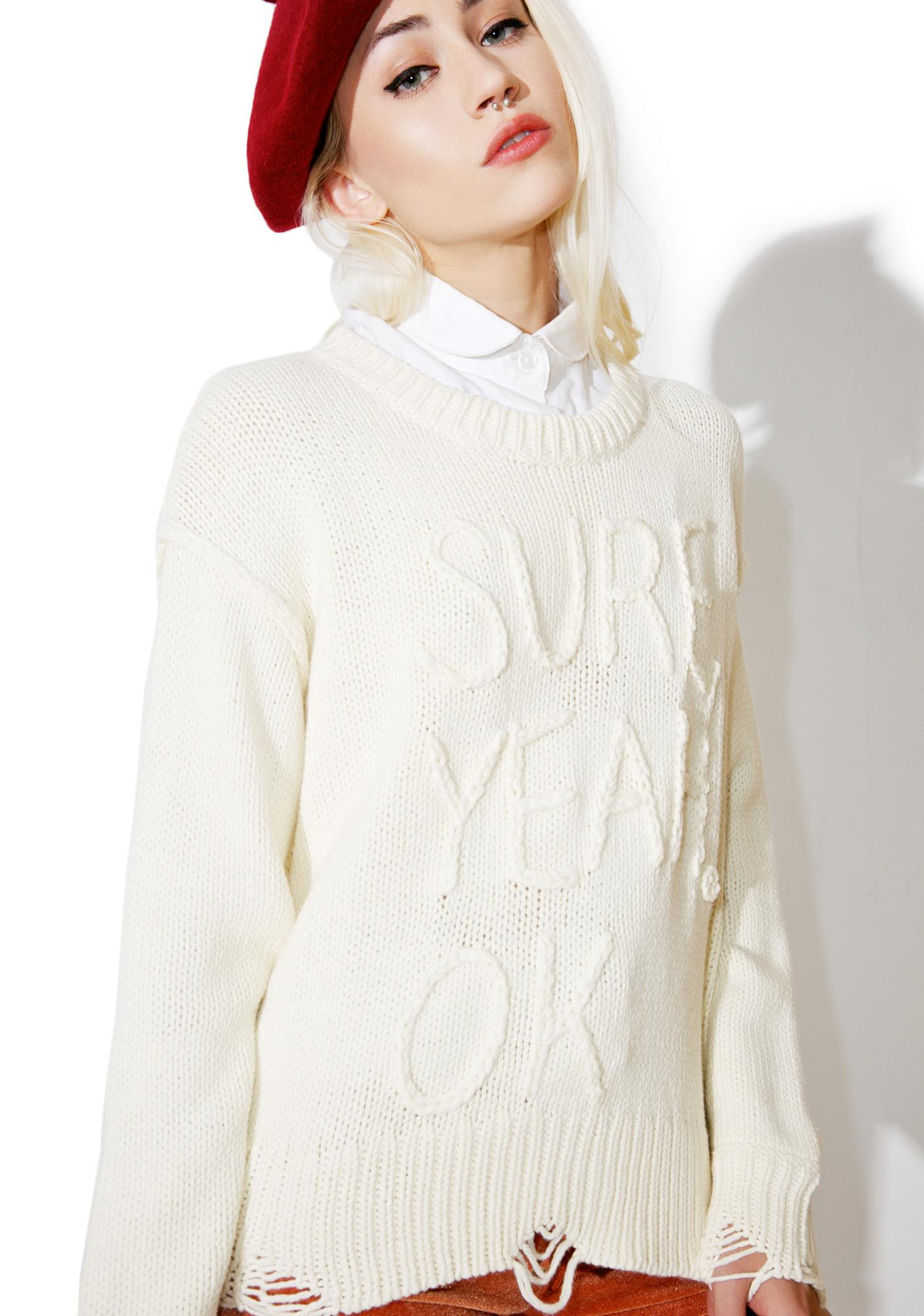 Wildfox Couture Sure Charlotte Sweater