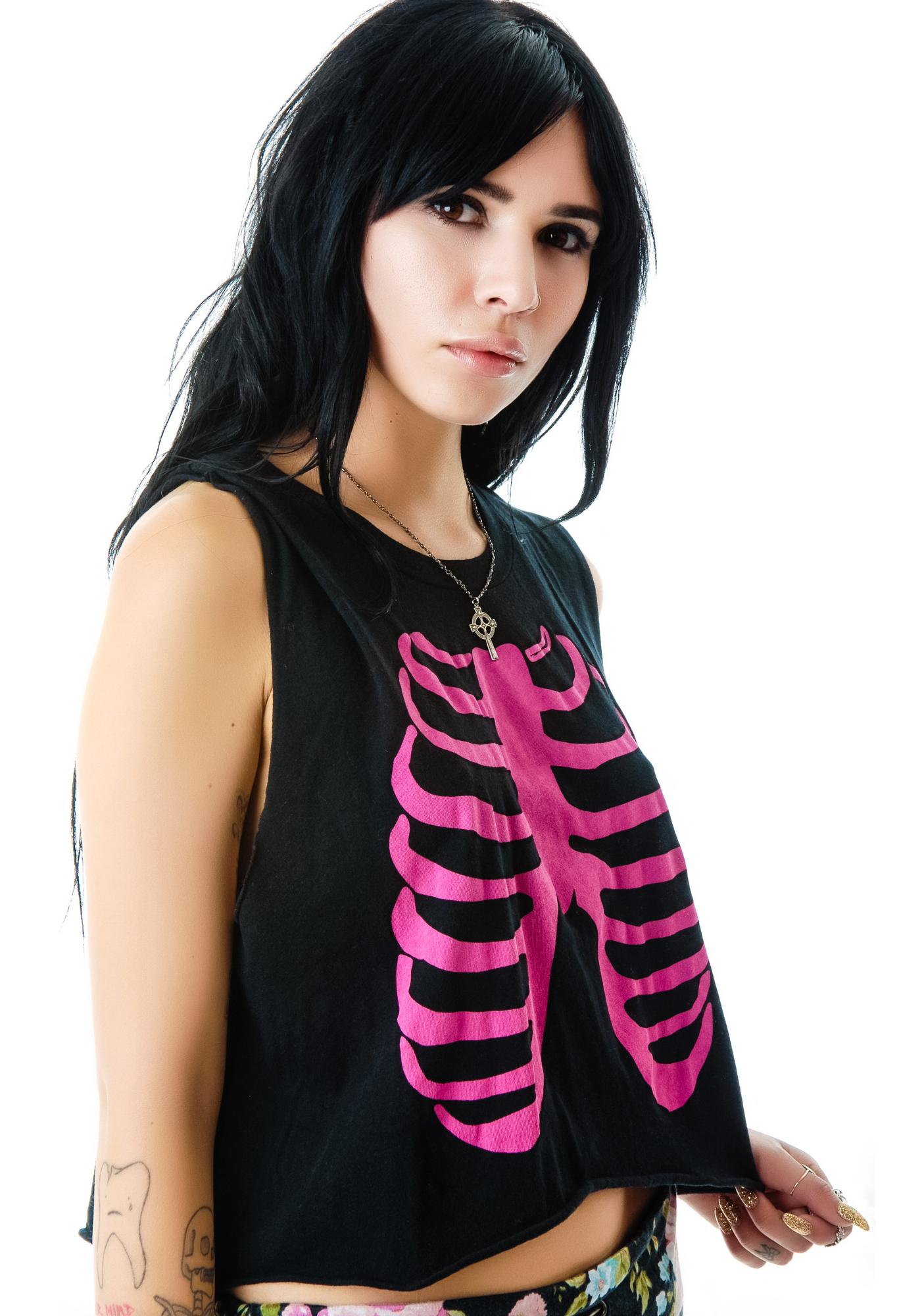 Wildfox Couture Skeleton Charlie Tank