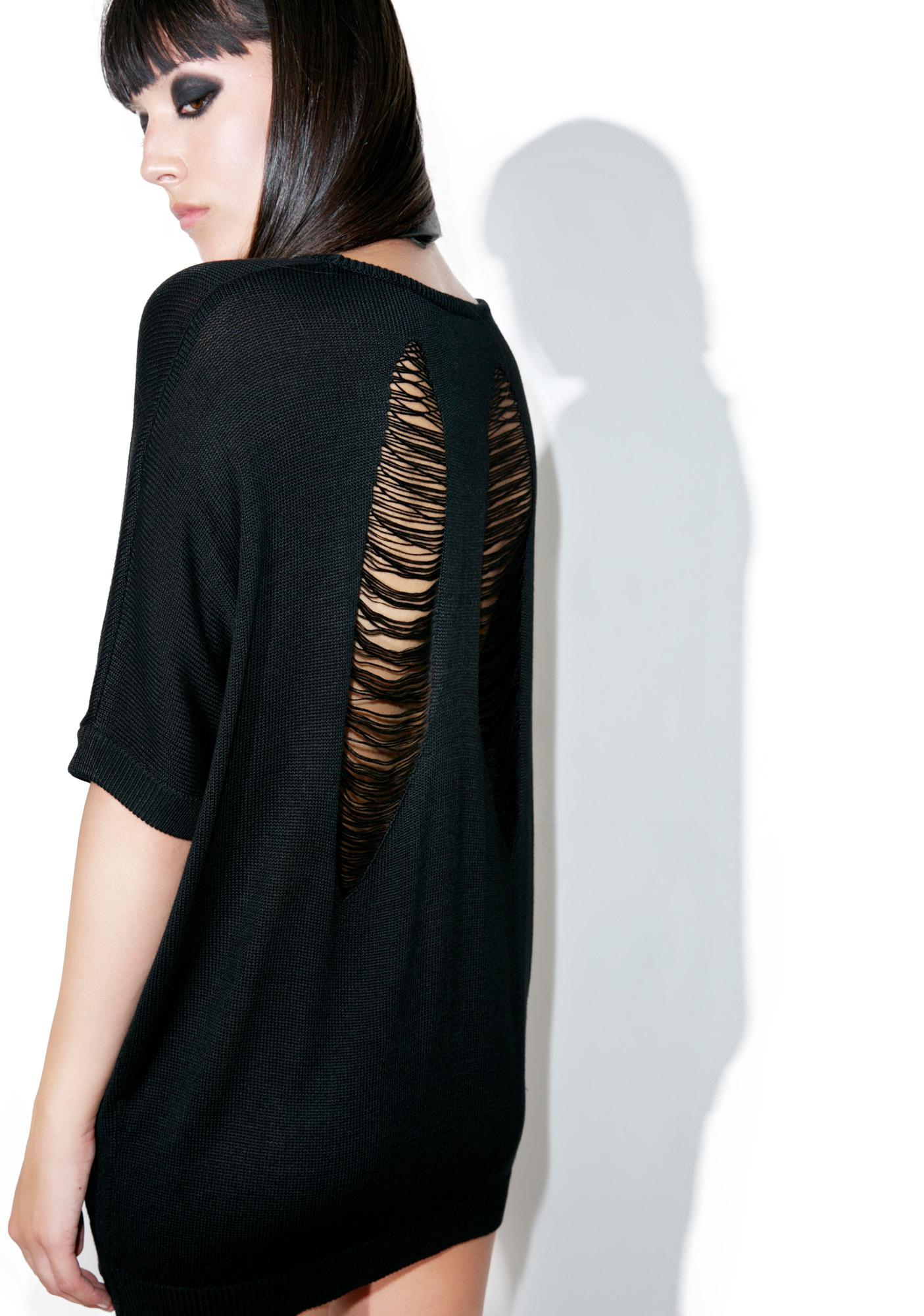 Killstar Got Plans Batwing Knit Top