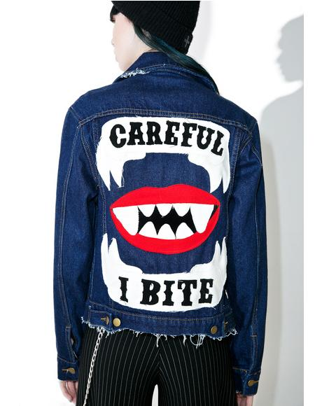 I Bite Denim Jacket