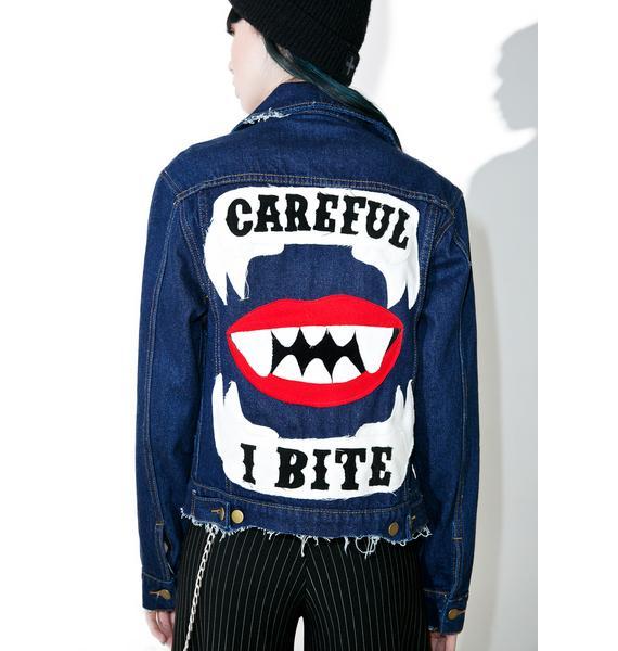 High Heels Suicide I Bite Denim Jacket