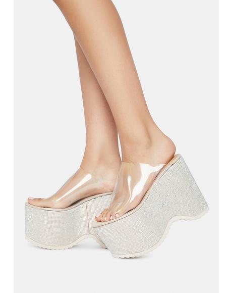 Higher Glitter Platform Sandals