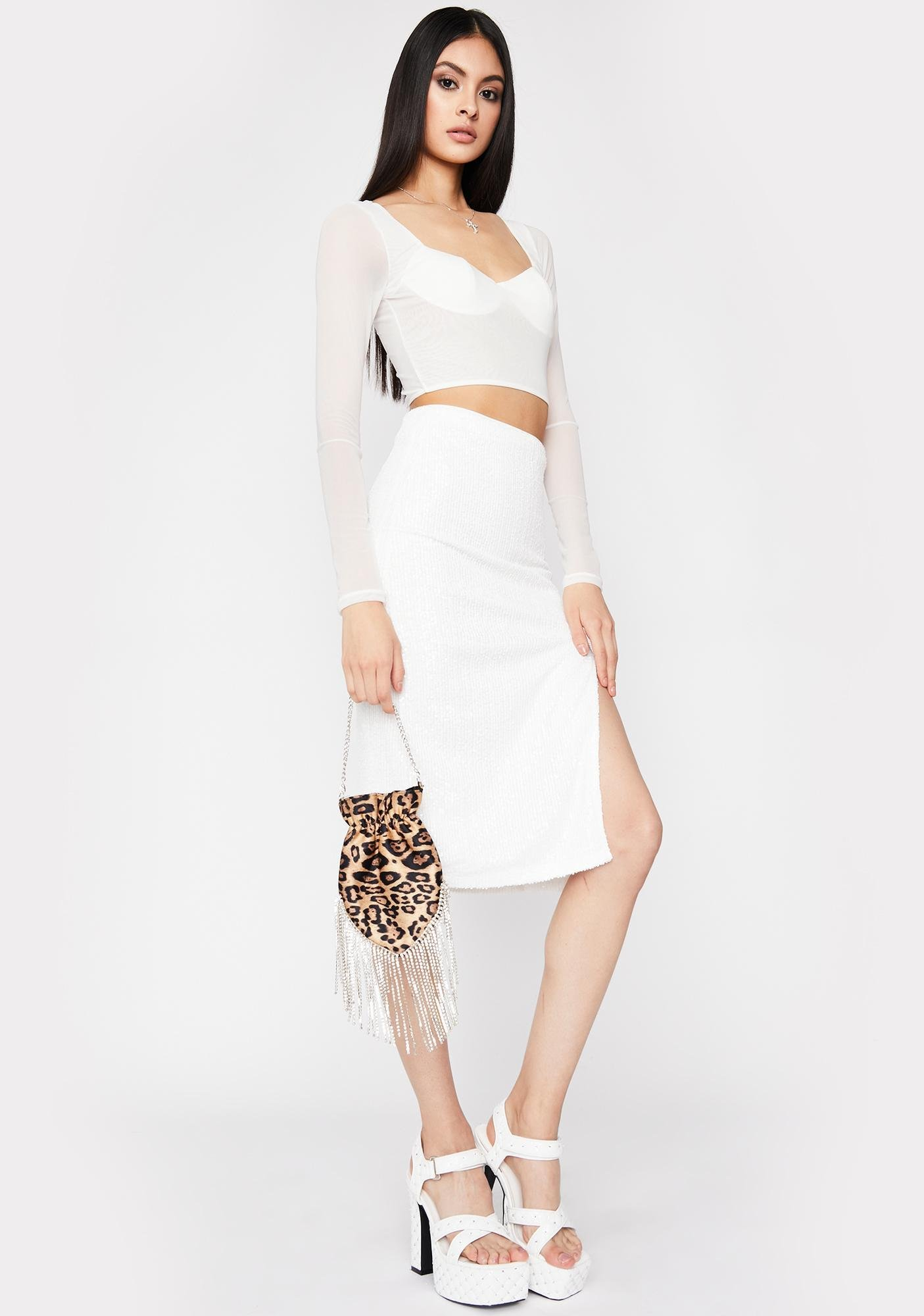Iconic VIP Entrance Sequin Skirt