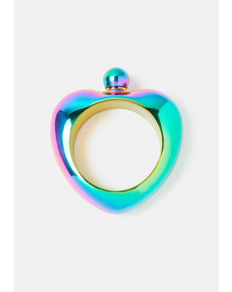 Loves To Drink Iridescent Bracelet Flask