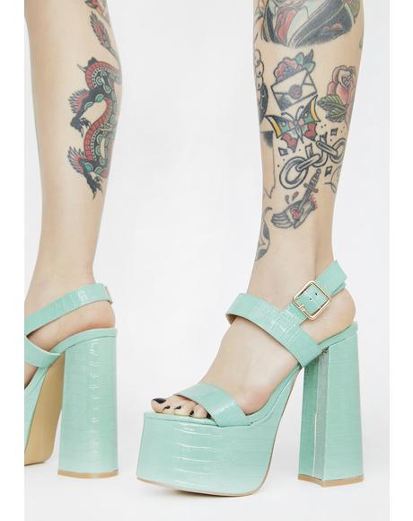 Can't Be Tamed Platform Heels