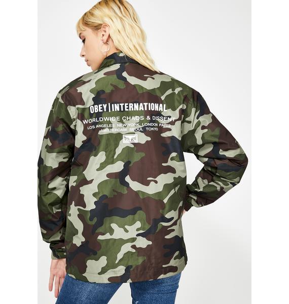 Obey Core Coaches Jacket