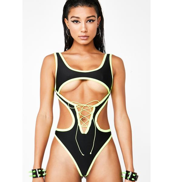 Bass Motion Cutout Bodysuit