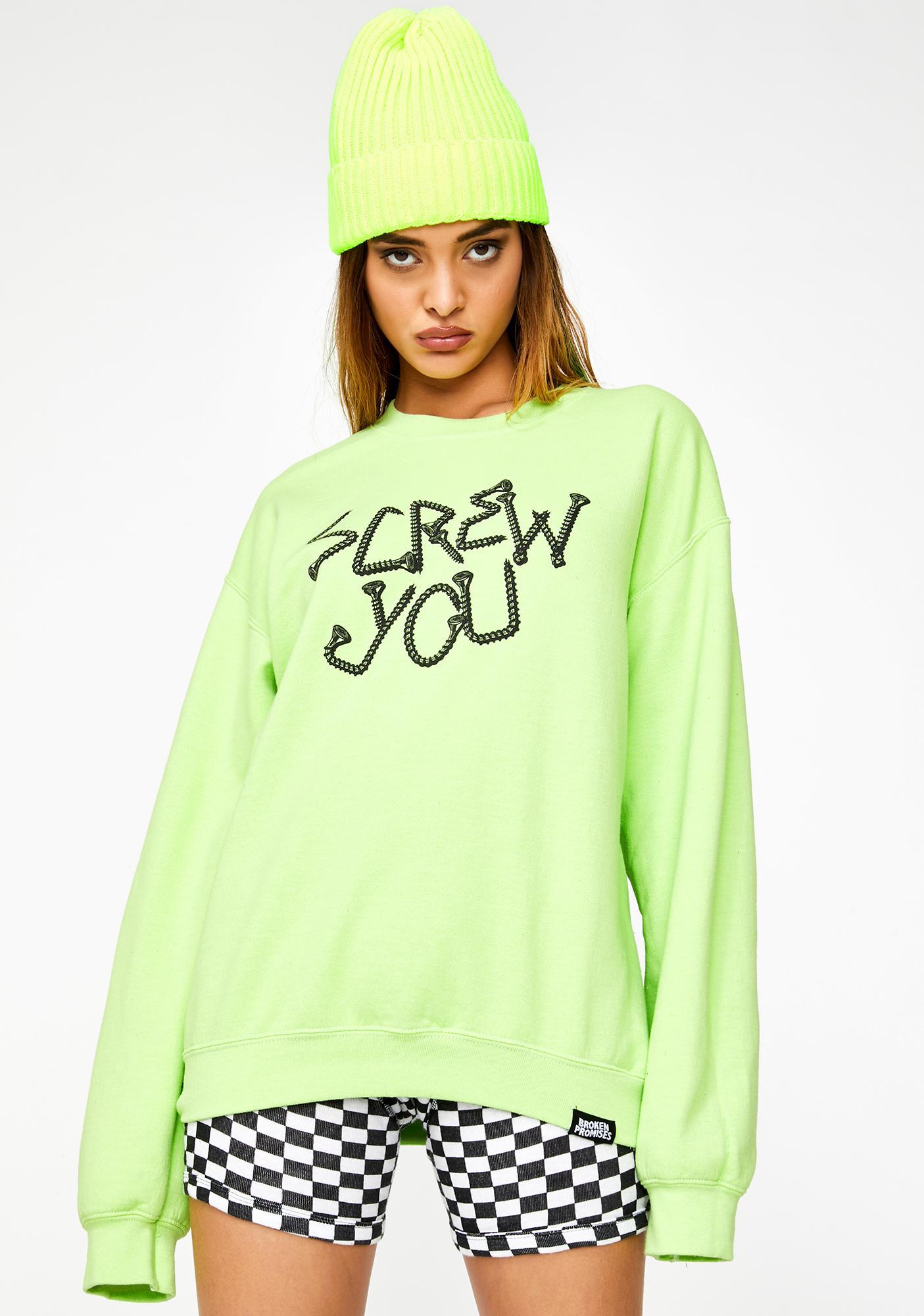 BROKEN PROMISES CO Driver Crewneck Sweatshirt